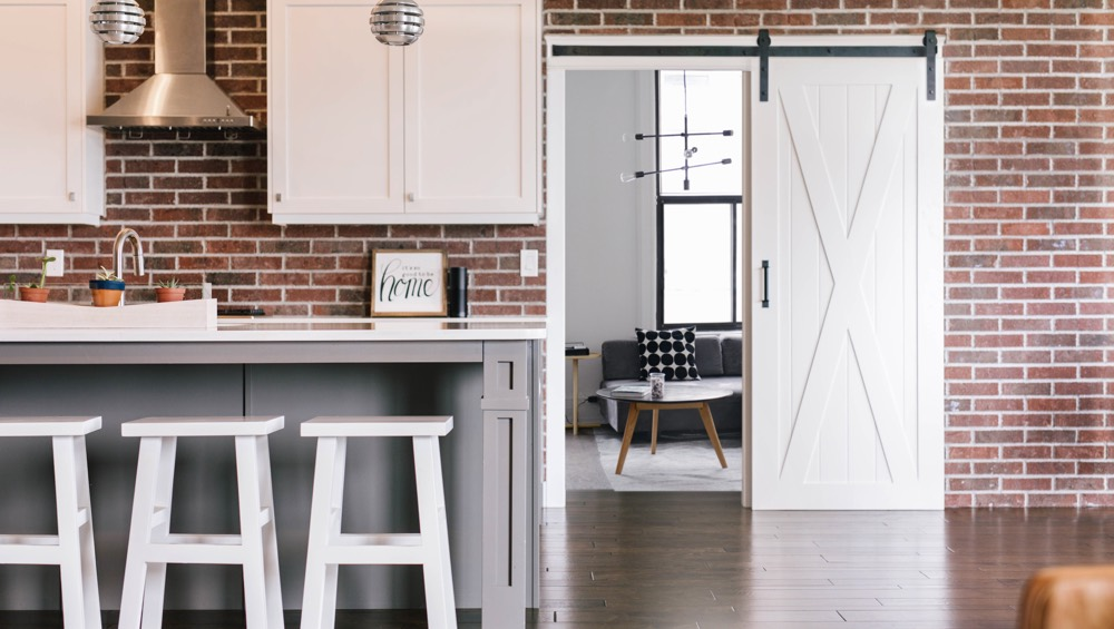 Charlotte exposed brick barn door