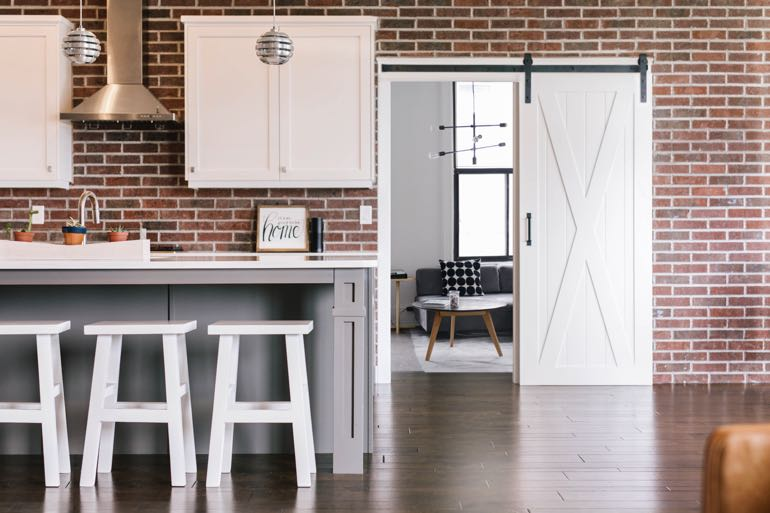 Charlotte modern kitchen barn door