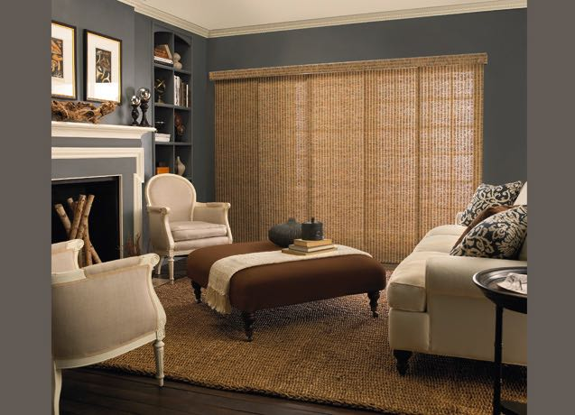 Charlotte living room panel track blinds