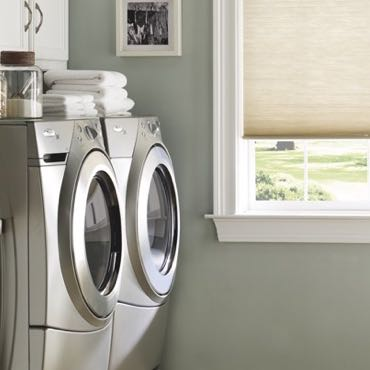 Charlotte laundry room cellular shades.