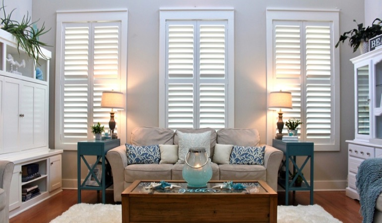 Charlotte designer home with chic shutters