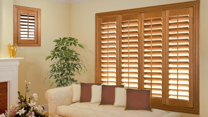 wood shutters Charlotte sunroom