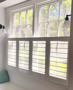 Charlotte faux wood cafe shutters