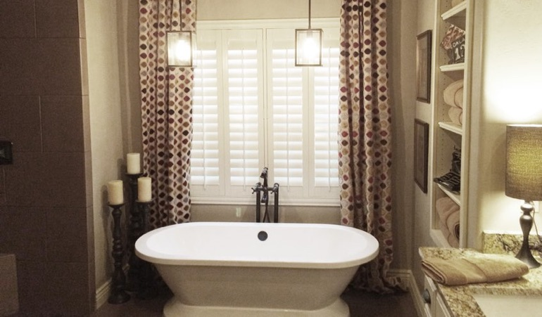 Polywood Shutters in Charlotte Bathroom
