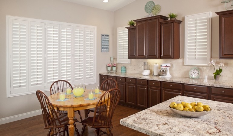 Polywood Shutters in Charlotte kitchen