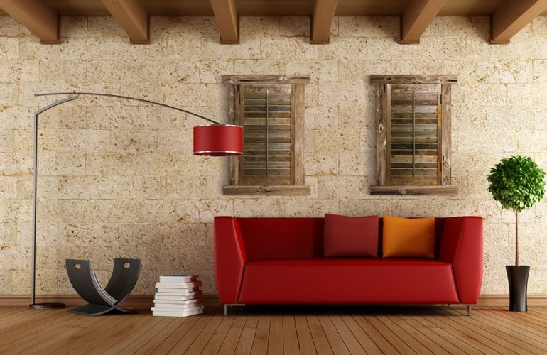Reclaimed Wood Shutters In A Charlotte Living Room. - Reclaimed Wood Shutters For Sale Sunburst Shutters Charlotte, NC