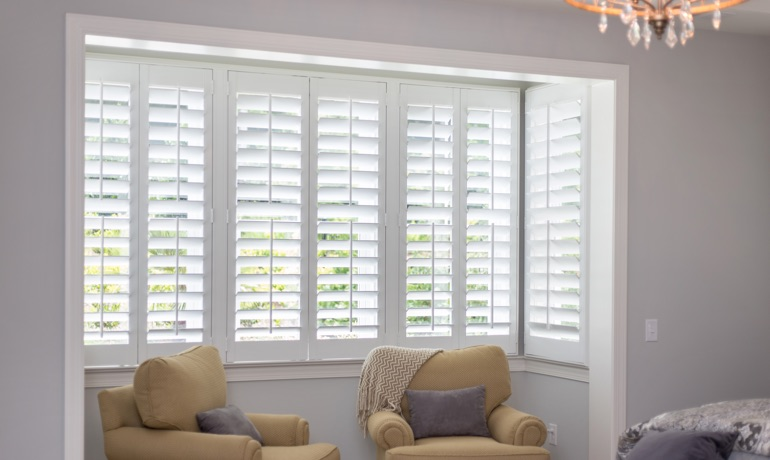 Classic shutters in Charlotte nook