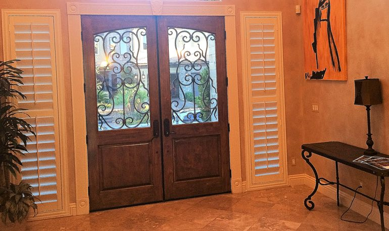 Charlotte foyer door with shutters