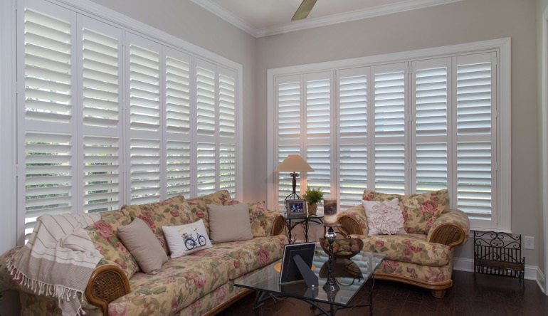 Charlotte sunroom indoor shutters