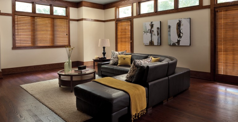 Charlotte hardwood floor and blinds