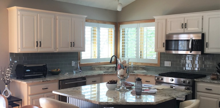 Charlotte kitchen with shutters and appliances