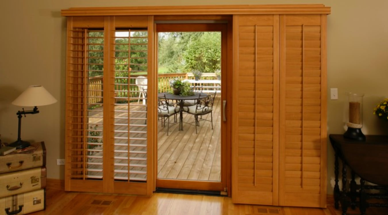 Sliding Glass Door Shutters In Charlotte Sunburst