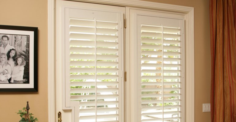 Charlotte french door plantation shutters