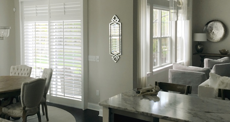 Charlotte kitchen patio door shutters
