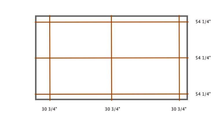 Charlotte indoor shutter measurement diagram